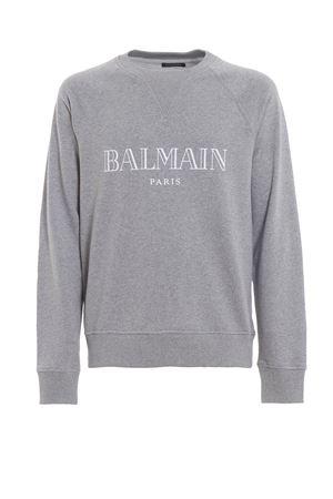 Felpa mélange con stampa logo Balmain RH11679I0529AA BALMAIN | 7 | RH11679I0529AA