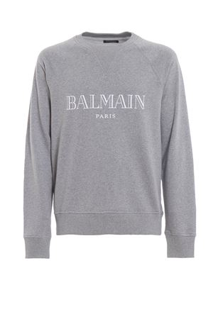 Balmain logo print melange sweatshirt BALMAIN | 7 | RH11679I0529AA