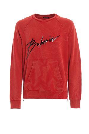 Balmain logo print sweatshirt  BALMAIN | 7 | RH13102J9283AA