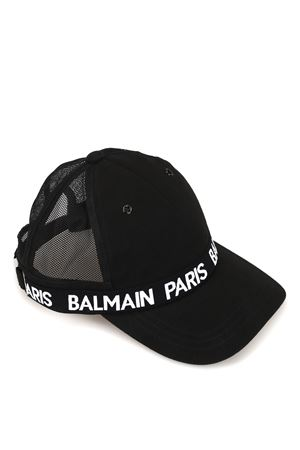 Logo band black baseball cap BALMAIN | 26 | RH1A006C056OPA