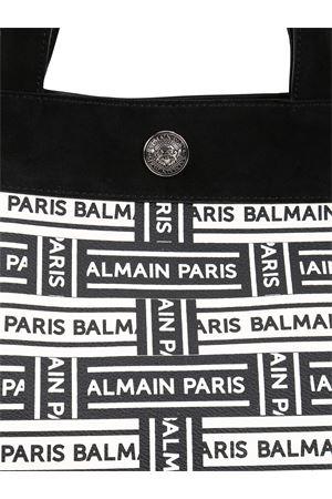 Logo print coated canvas tote  BALMAIN | 5032265 | RN1S043TTMKEAB