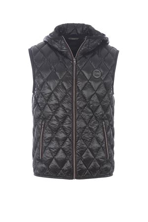 Research sleeveless diamond quilted jacket