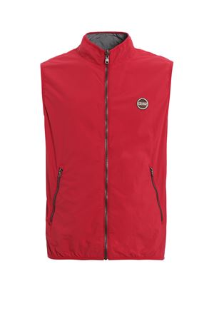 Blank reversible red and grey nylon vest