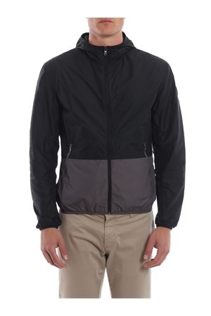 Crew hooded bicolour nylon jacket