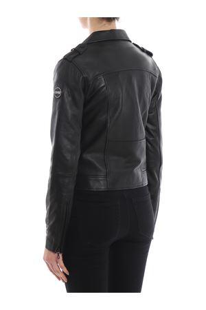 Creation total black nappa moto jacket<br>