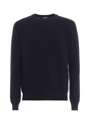 Attitude dark blue cotton crewneck