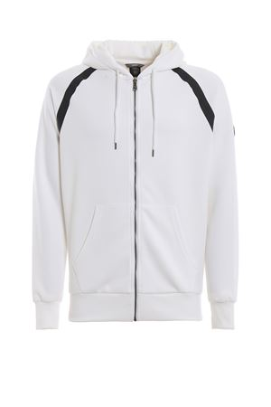 Locker white cotton blend hoodie