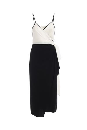 Avila black and white crepe wrap dress DIANE VON FURSTENBERG | 11 | 12352IVBK