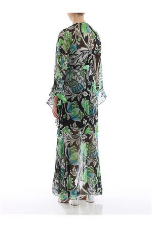 Lizella floral crepe maxi wrap dress
