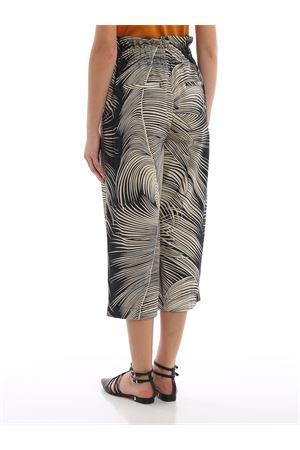 Pantaloni Iole bicolor stampa foglie DP422FF0328DXXXPDD999 DONDUP | 20000005 | DP422FF0328DXXXPDD999