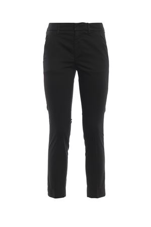 Rocio black stretch cotton trousers DONDUP | 20000005 | DP429RS0986DPTDPDD999