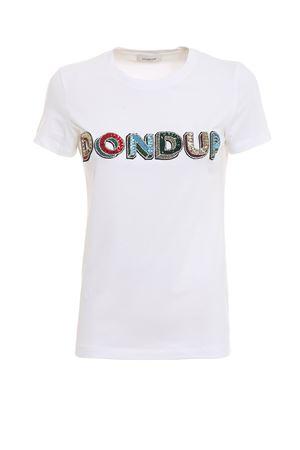 T-shirt in cotone con logo con paillettes S007JS0212DV45PDD000 DONDUP | 8 | S007JS0212DV45PDD000