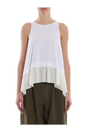 Pleated insert tank top