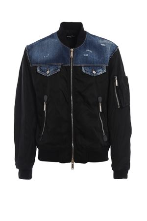 Denim yoke black nylon bomber jacket DSQUARED2 | 3 | S74AM0869S49576900