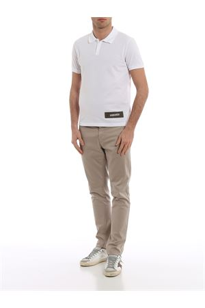 Cotton polo shirt with army style logo tag S74GL0005S22743100 DSQUARED2 | 2 | S74GL0005S22743100