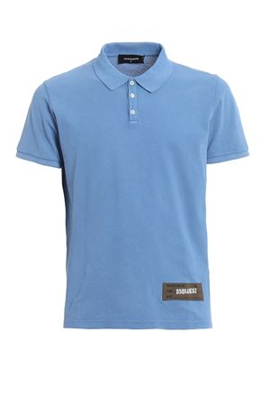 Classic fit sky blue cotton polo shirt  DSQUARED2 | 2 | S74GL0005S22743483