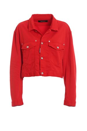 Red cotton denim cropped jacket S75AM0629S44531309 DSQUARED2 | 3 | S75AM0629S44531309