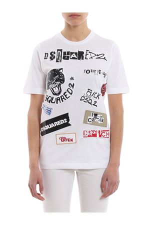 Jersey T-shirt with printed patches