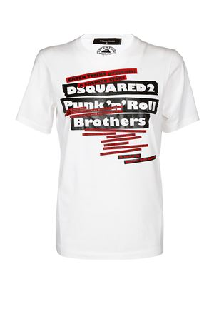 T-shirt bianca Punk