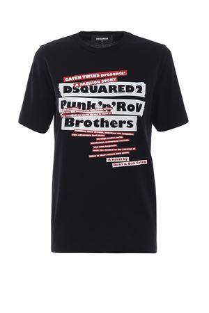 T-shirt nera Punk