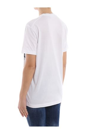 Graphic print white cotton T-shirt