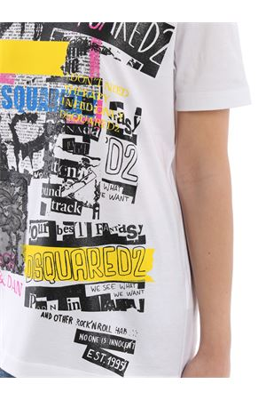 T-shirt in cotone bianco con stampa S75GC0999S22427100 DSQUARED2 | 8 | S75GC0999S22427100