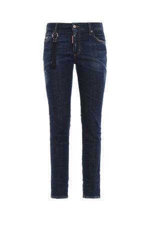 Runaway Straight crop dark blue jeans DSQUARED2 | 20000005 | S75LB0120S30342470