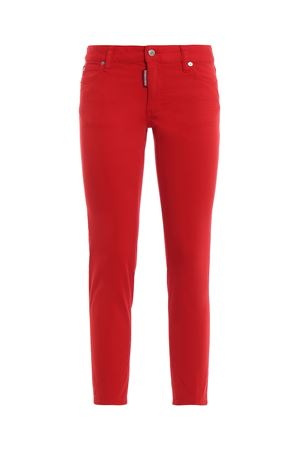 RED medium waist cropped twiggy jeans DSQUARED2 | 20000005 | S75LB0127S44531309