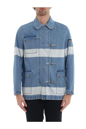 4 Ganci striped denim jacket