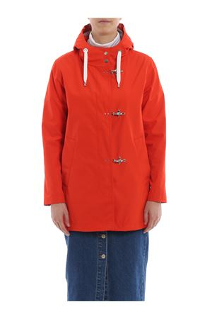 Orange tech fabric parka