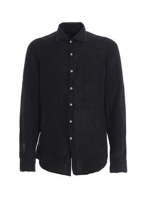 Dark blue linen shirt FAY   6   NCMA138259THTKU809