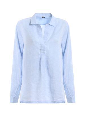 Camicia azzurra in lino NCWA138A12LQTCU006 FAY | 2 | NCWA138A12LQTCU006