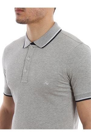 Double collar grey polo shirt FAY | 2 | NPMB238140SITOB401