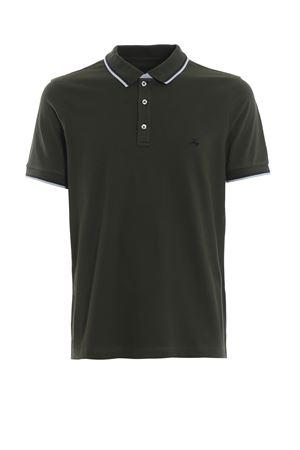 Double collar dark green polo shirt FAY | 2 | NPMB238140SITOV608
