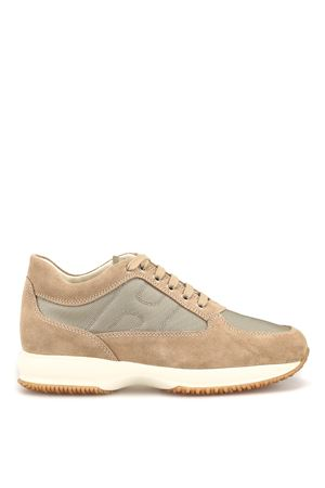 Interactive beige suede and fabric sneakers HOGAN | 120000001 | HXM00N00E10B2A489E