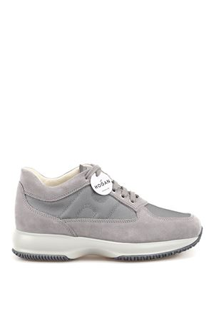 Interactive grey suede and fabric sneakers HOGAN | 120000001 | HXM00N00E10B2AB607
