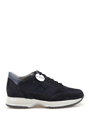 Interactive blue suede and fabric sneakers HOGAN | 120000001 | HXM00N0Q102JGF3735