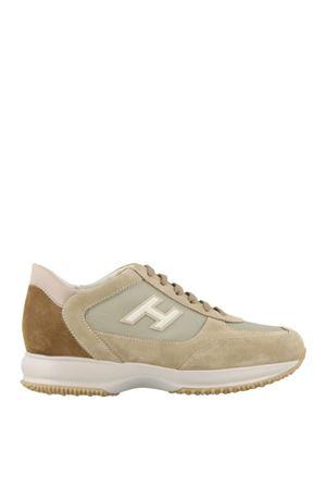 New Interactive suede beige sneakers  HOGAN | 120000001 | HXM00N0Q102JGF489O