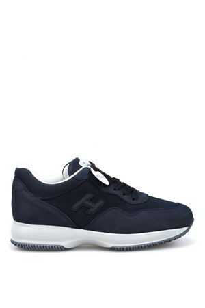 Interactive blue nubuck and fabric sneakers HXM00N0U040HY7123L HOGAN scarpe | 120000001 | HXM00N0U040HY7123L