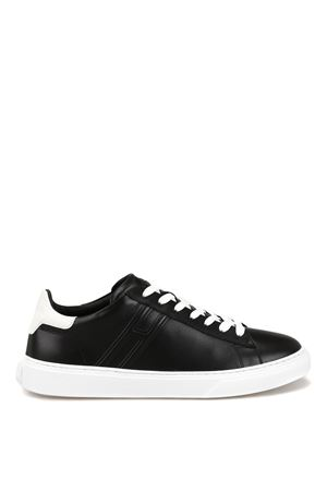 H365 black leather lace-up sneakers  HOGAN   120000001   HXM3650J960KFN0002