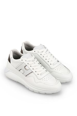 Interactive³ white leather sneakers 