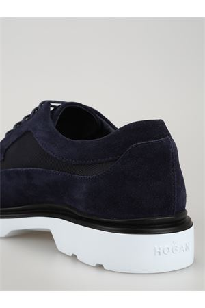 Blue ultralight lace-up Derby shoes 