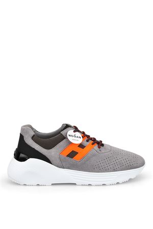 Active One grey and orange sneakers HOGAN | 120000001 | HXM4430BR10KXS683W