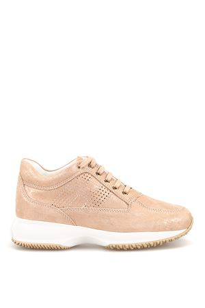 Interactive drilled H shiny suede sneakers HOGAN | 120000001 | HXW00N00E30KAYM013