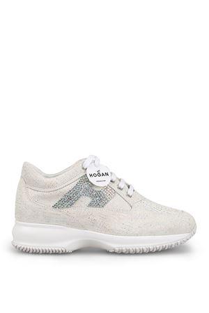 Interactive crystal H shiny suede sneakers HOGAN | 120000001 | HXW00N02011KFS0222