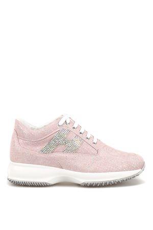 Interactive crystal H shiny suede sneakers HOGAN | 120000001 | HXW00N02011KFSM413