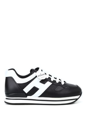 H222 BLACK AND WHITE SNEAKERS HOGAN | 120000001 | HXW2220T548HQK0002