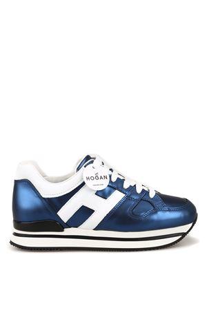 H222 blue matte laminated sneakers HOGAN | 120000001 | HXW2220T548KG40009Z