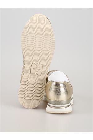 Slip-on H222 in pelle e glitter oro HXW2220T671KGH0QCG HOGAN | 5032246 | HXW2220T671KGH0QCG