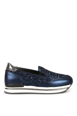 H222 leather and glitter slip-ons HOGAN scarpe | 5032246 | HXW2220T671KGI0QCH